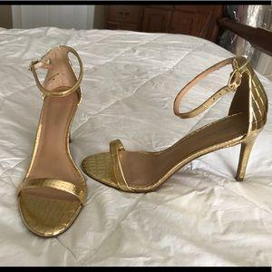 Banana Republic Juliet Gold Sandal Heels